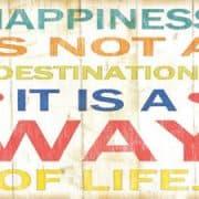 Geluk is het enige doel dat we echt zoeken